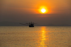 Andaman sea on sunset Stock Photos