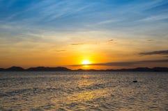 Andaman sea on sunset Stock Photos