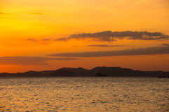 Andaman sea on sunset Royalty Free Stock Images