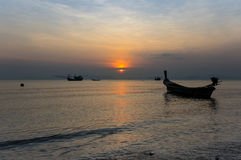 Andaman sea on sunset Stock Image
