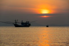 Andaman sea on sunset Royalty Free Stock Photo