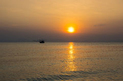 Andaman sea on sunset Royalty Free Stock Photos