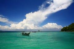 Andaman Sea View. A view near the island Khai Nok off the east coast of Phuket Thailand stock photo