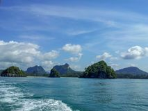 Andaman sea view from the boat. Near Chicken island- Krabi Thailand Stock Photo