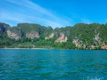 Andaman Sea view of Centara beach Krabi Thailand. September 2012 - one day trip Stock Photos