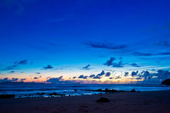 Andaman Sea view. Andaman Sea view in twilight at Koh Jum island, Krabi Province, Thailand. May 2017 royalty free stock photography