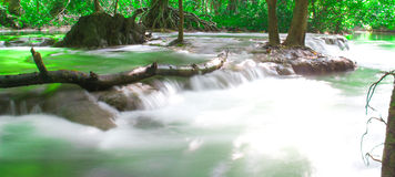 Andaman Thailand outdoor photography of waterfall in rain jungle forest. Trees, PHUKET, Royalty Free Stock Image