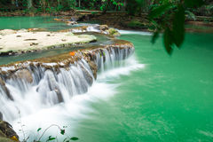Andaman Thailand outdoor photography of waterfall in rain jungle forest. Trees, PHUKET, Royalty Free Stock Photos