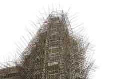 Andamio de bambú Foto de archivo libre de regalías