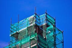 Andamio de la restauración para los edificios Foto de archivo libre de regalías