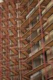 Andamio en la construcción de viviendas Foto de archivo