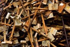 Andamio oxidado Imagen de archivo libre de regalías