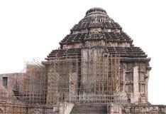 Andamios de acero para el mantenimiento del templo de Sun Foto de archivo