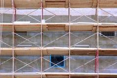 Andamios en el edificio Foto de archivo libre de regalías