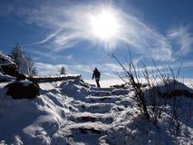 Andando al Sun Fotografia Stock Libera da Diritti