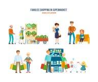Andando no shopping, lazer, obtenção dos bens, crianças do entretenimento ilustração royalty free