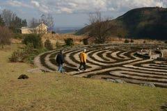 Andando o labirinto Foto de Stock Royalty Free