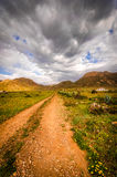 Andando o trajeto à serra de Gata Fotografia de Stock Royalty Free