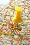 Andando a Parigi Fotografia Stock Libera da Diritti