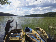 Andando per una pesca Fotografia Stock Libera da Diritti