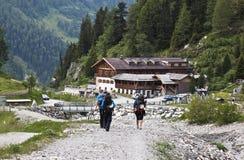 Andando scalare in valle di Koednitz, Austria Fotografia Stock