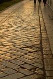 Andando uma rua do ouro. Imagens de Stock