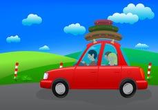 Andando in vacanza (viaggio stradale) Immagine Stock Libera da Diritti