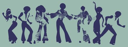 Andaparti Tid Dansare av anda, fegis eller diskot Royaltyfri Foto