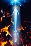 Andaräddning från helvete, uppstigning från helvete till himmel royaltyfri illustrationer
