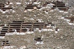 Andare in pezzi di legno del tetto dell'assicella di scossa Immagini Stock Libere da Diritti