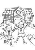 Andare a scuola sveglio dei bambini illustrazione di stock