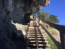 Andare in su le scale Fotografie Stock