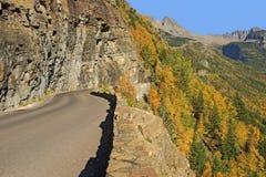Andare---Sun-strada, Glacier National Park Fotografia Stock