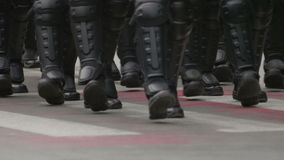 Żandarmerii jednostek specjalnych marsz zbiory wideo