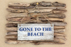 Andato alla spiaggia Fotografia Stock