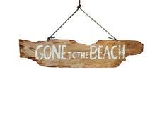 Andato alla spiaggia fotografia stock libera da diritti