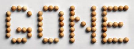 ` Andato ` di legno di arte di parola della puntina Immagini Stock Libere da Diritti