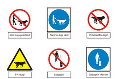 Мandatory, warning, indicative, prohibited signs collection Royalty Free Stock Photography