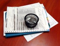 andClips da carta paciente foto de stock