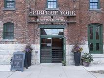 Ande av den York spritfabriken i spritfabrikområdet, Toronto Arkivfoton