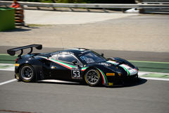 Ande av loppet Ferrari 488 GT3 på Monza Arkivfoto