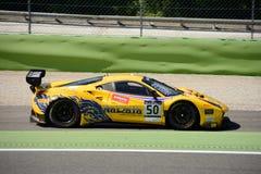 Ande av loppet Ferrari 488 GT3 på Monza Arkivbilder
