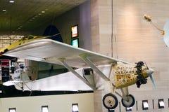 Ande av St Louis flygplan från Charles Lindbergh på smederna Arkivbild