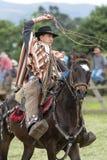 Andean cowboy on horseback Stock Photos