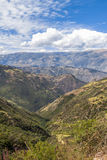 Andean dal Cuzco Peru Arkivfoto