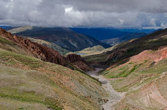 Andean dold sjö Arkivfoton
