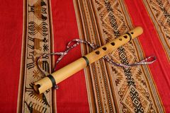 Andean flute from South America Royalty Free Stock Photos