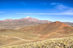Andean highlands. Highlands in the Andes in Bolivia Royalty Free Stock Photos