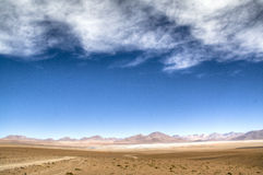 Andean highlands. Highlands in the Andes in Bolivia Stock Image