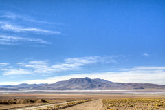 Andean highlands. Highlands in the Andes in Bolivia Royalty Free Stock Photography